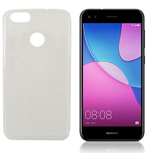 MOELECTRONIX TPU TRANSPARENT Silikon Schutzhülle Soft Hülle Tasche Hülle passend für Huawei Y6 Pro 2017 Dual SIM SLA-L22