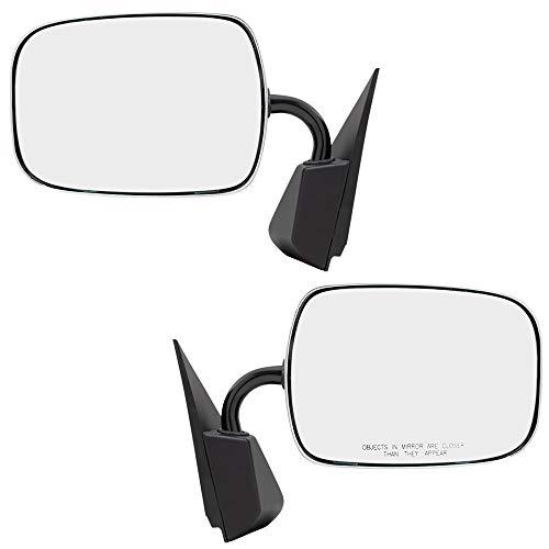 Brock Replacement Driver and Passenger Set Manual Side Door Mirrors Sail Mount Chrome Compatible with C/K Pickup Suburban Blazer Tahoe Yukon