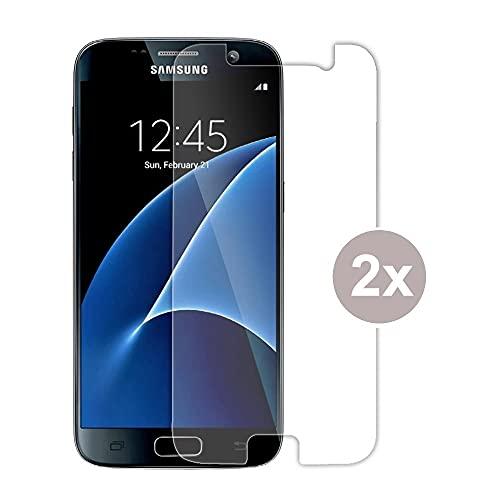 Cracksin Panzerfolie kompatibel mit Samsung Galaxy S7 NanoTech Displayschutzfolie, Schutzfolie [kein Glas] Panzerglas Folie,100% Fingerabdrucksensor [2 Stück]