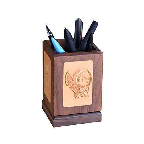 Panalaka Cajas de Almacenamiento de Escritorio de Madera de Madera de Escritorio de Madera grabadora de Escritorio Oficina Organizador de lápices Sundries de Almacenamiento (Color : Brown, Size : B)