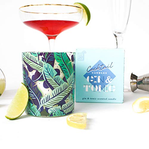 Gift Republic Gin and Tonic Scented Cocktail Candle, Blue