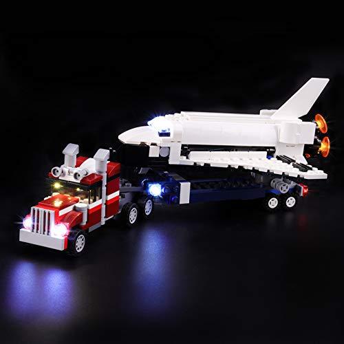 Kit De Iluminación Led para Lego Creator Transporte De La Lanzadera, Compatible con Ladrillos De Construcción Lego Modelo 31091(Juego De Legos No Incluido)