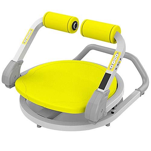 Battitachil Home Gym Gewichtheben Bank, Abdominal-Core Trainer Rotation einstellbares Widerstand Körpermuskeltraining Fitness Startseite Gewicht-Verlust Ausrüstung (Color : Yellow, Size : 63x45cm)