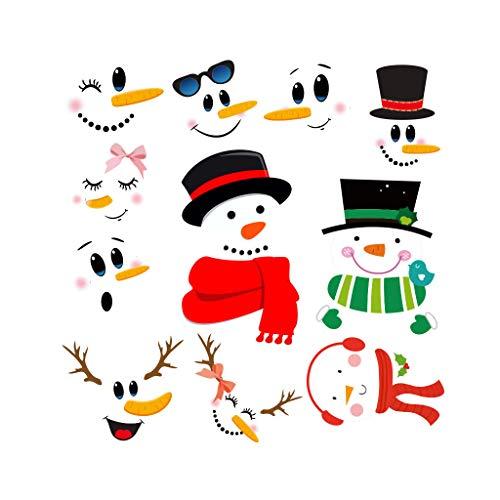 duquanxinquan PVC Aufklebe Schneemann Fensterbilder Winter Statisch Haftende für Weihnachten Wiederverwendbar Fenster Fensterdeko Wiederverwendbar ungiftig Nicht verblassend und wasserdicht (1)