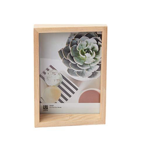 UMBRA Edge Frame. Cadre photo Edge, en bois, pour 1 photo de 13x18cm. Coloris bois naturel.