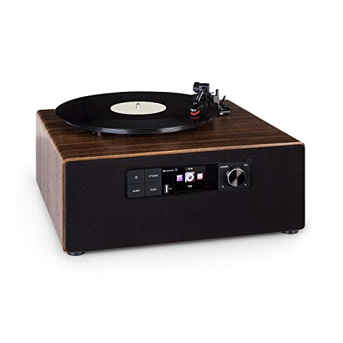 AUNA Connect Vinyl Cube Turntable - Power: 40 W Max, Integrated Speakers,...