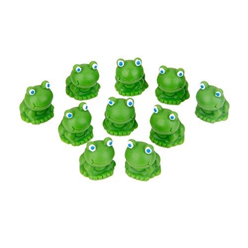 10pcs Grenouille Miniature Décoration pour Micro Paysage Bonsaï DIY - Vert