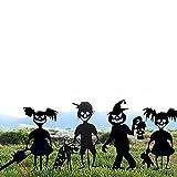 CFSYS Decoraciones de Halloween al Aire Libre 4 Piezas Brujas Calabaza Nios Hierro de Metal Negro 35 * 20 cm Seales de estaca de Patio para Decoraciones de Accesorios de jardn