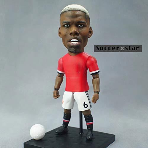 MMZ Soccer Star 1/6 Paul Pogba Sammler Action-Figur von Manchester United/Sammlerstücke for Fußballfan/Dashboard-Dekor for Auto-13CM
