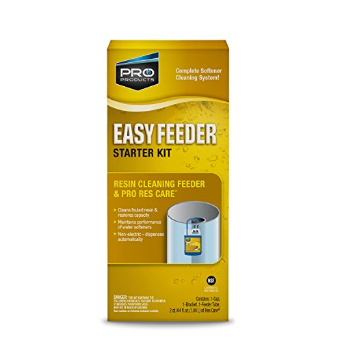 Res Care Easy Feeder Starter Kit – Complete Softener Cleaning System -- Dispenses Res Care Liquid Water Softener Cleaner – Feeds Continuously -- Restores Resin Capacity