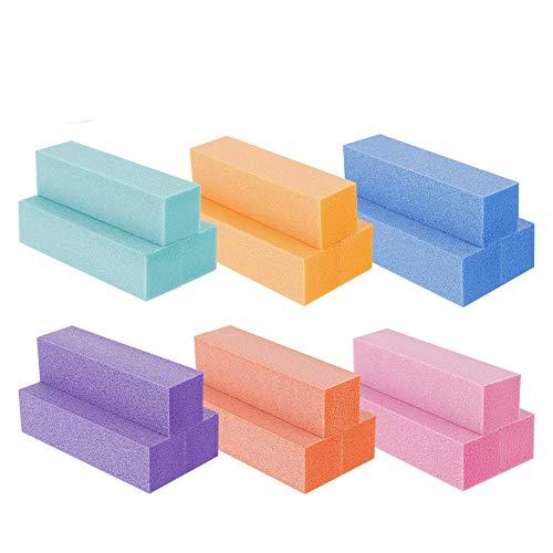 SUSSURRO 18 Stück Farbe Buffer SchleifblöCke PolierblöCke Für Nageldesign Nagelpolierblock Polierflächen Nagelfeile Block Nagelkunst ManiküRe Werkzeug