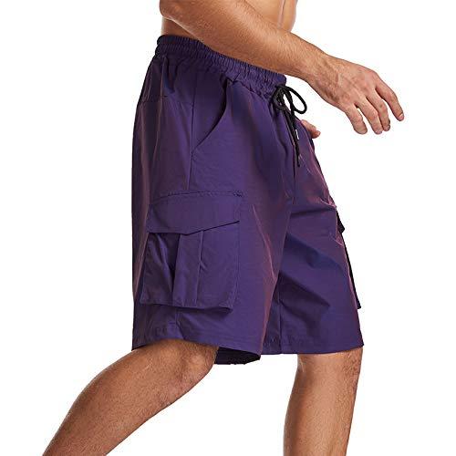 Pantalones Cortos de Carga Que cambian de Color a la Moda para Hombres, Pantalones de Cinco Puntos para Correr, Deportivos, de Gran tamaño, Holgados, Europeos y Americanos 27