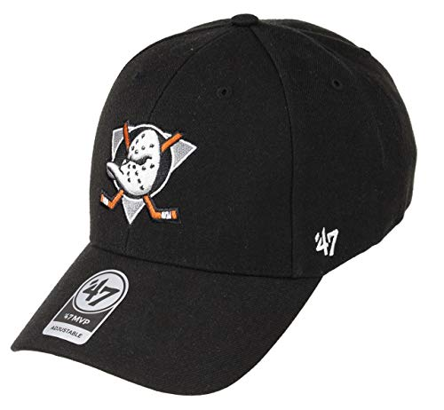 47Brand Anaheim Ducks Adjustable Cap MVP NHL Black/Grey - One-Size