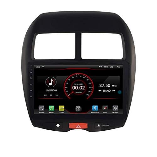 KLL Android 10 Car DVD Player GPS Stereo Head Unit Navi Radio Multimedia WiFi para Mitsubishi ASX RVR Outlander Sport Peugeot 4008 Soporte de Control del Volante