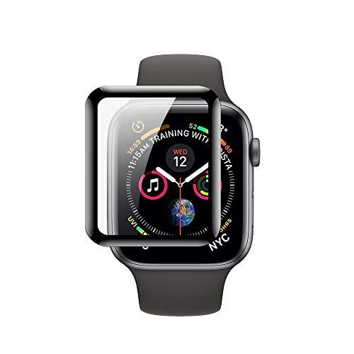 Protector de pantalla para Apple Watch de cristal templado de primera calidad, serie 4/5/SE/6, 1.575in, cobertura completa, claridad HD, sin burbujas, fácil instalación (1.575in)