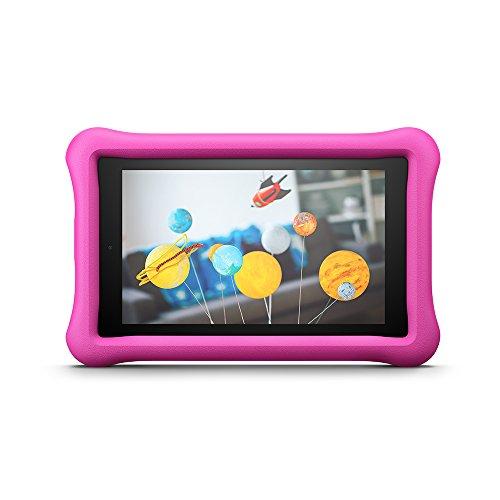 Amazon - Custodia per bambini per Fire 7 (tablet 7'', 7ᵃ generazione, modello 2017), Rosa - non compatibile con il modello 2019 (9ª generazione)