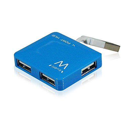 Ewent ew1126 4 Port USB 2.0 Mini Hub voor Windows en Mac - blauw