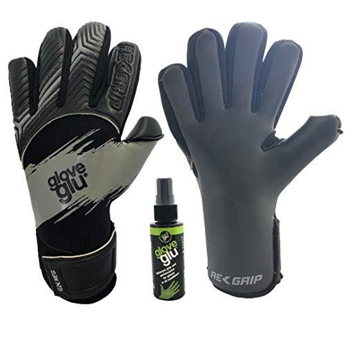 GloveGlu REGRIP Performance - Guantes de portero (tamaños 5 a 11) recargables con botella de 50 ml), 8, gris
