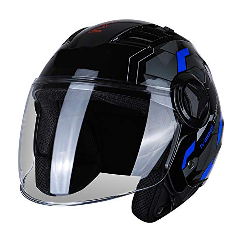 ZJRA DOT/ECE Certified Bright Black Motorrad Helm Downhill Endurance Muster...