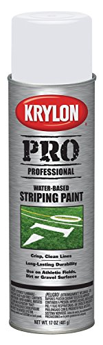 Krylon K05915007 Contractor Striping Spray Paint, Athletic Field White, 15 Ounce