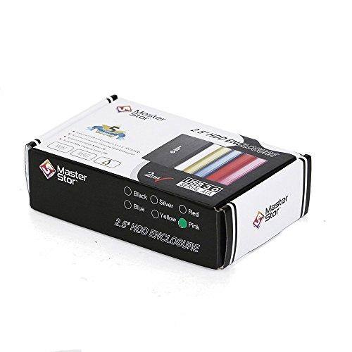 (MasterStor 2 años de garantía)-Disco Duro Externo USB 3.0 Super-rápido de 2.5 Pulgadas SATA Laptop Hard Drive Disco Duro portátil Rosa (80 GB, 120 GB, 160 GB, 320 GB, 500 GB, 1 TB) (1 TB) (160GB) miniatura