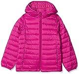 Amazon Essentials Girl's Lightweight Water-Resistant Packable Hooded Puffer Jacket, Fuchsia Purple, Medium