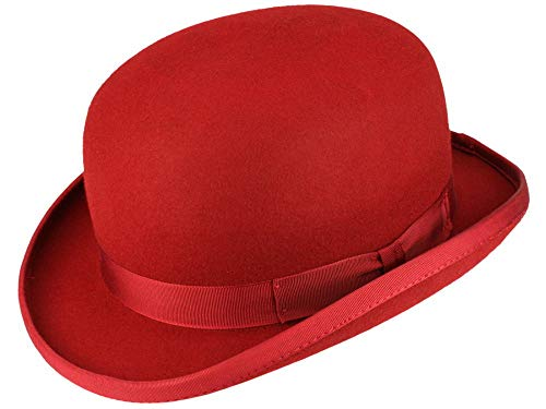 Christys' Christys' Fashion Bowler Melone aus Wollfilz - Rot (red) - 54-55 cm (S)
