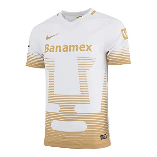 2015-2016 Nike UNAM PUMAs entfernt Replica Soccer Jersey (Weiß/Gold) (L)
