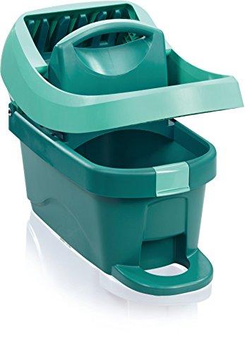 Leifheit Wischtuchpresse Profi XL mit Rollen und Tragegriff, mit Fußbedienung für rückenschonendes Putzen ohne Bücken und saubere Hände, 8 Liter Eimer mit Pressaufsatz