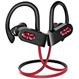 Mpow FLAME2 Bluetooth Headphones Sport, 12Hrs & Bluetooth 5.0 Wireless Sport Earphones, IPX7 Waterproof Running Headphones W/CVC 6.0 Noise Cancelling Mic, Bluetooth Earphones w/Comfort-Slanting, Red