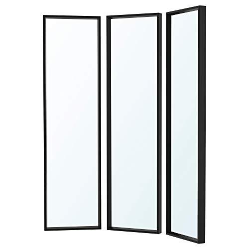 NISSEDAL spegelkombination 40 x 150 cm svart