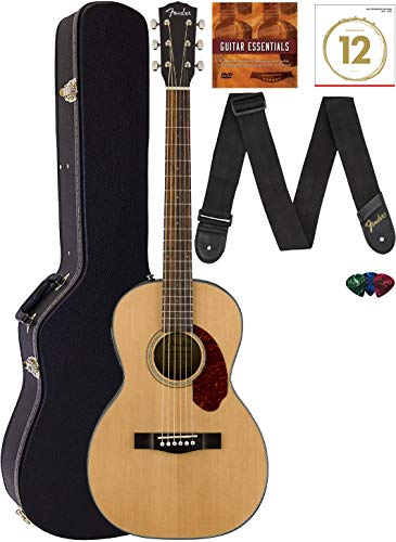 Fender CP-140SE Acoustic-Electric Guitar Bundle with Hard Case, Strap, Strings, Picks, and Instructional DVD - Natural