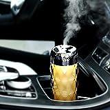 Hivexagon 3 en 1 Mini Humidificateur Diffuseur d'huiles essentielles avec ventilateur et lampe de nuit de 200mL USB Portable Arrêt automatique & Souffle silencieux pour voiture, maison, bureau