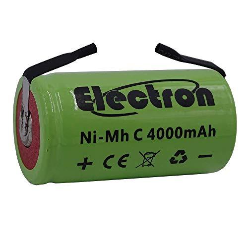 Batteria ricaricabile Ni-Mh C 1/2 mezza torcia 1,2V 4000mAh con lamelle linguette terminali a saldare per pacco pacchi batteria