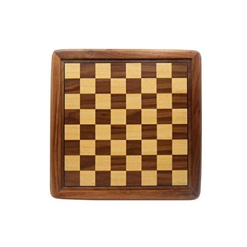 GLXLSBZ Juego de ajedrez para Adultos y niños, Tablero de Juego de Madera Grande, Almacenamiento para Las Piezas de ajedrez de Madera Hechas a Mano, Incluye Caja de Regalo (Juego de Rompecabezas)