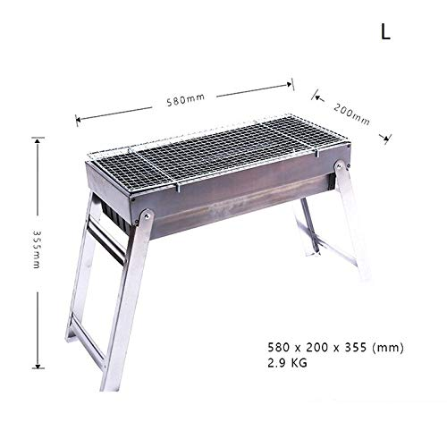YSYDE Stainless Steel Folding Barbecue Grill, Portable