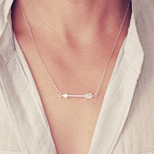 TseenYi Arrow Choker Necklace Arrow Pendant Necklace Chain Adjustable...
