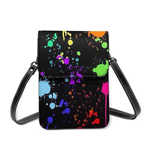 Tie Dye Fun Splash Dye Diagram Women Phone Purse, Small Crossbody Bag Mini Cell Phone Pouch Shoulder Bag,Wallet Purse