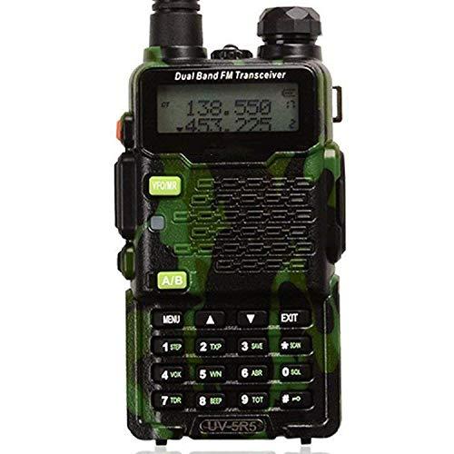 ZUZU Radio bidirezionale, walkie-Talkie UV-5R5 5W Dual-Band bidirezionale Ham Radio ricetrasmettitore UHF/VHF 136-174/400-520MHz, 65-108MHz FM,C