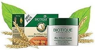 Biotique Bio Wheat Germ Youthful Nourishing Night Cream For Normal To Dry Ski...