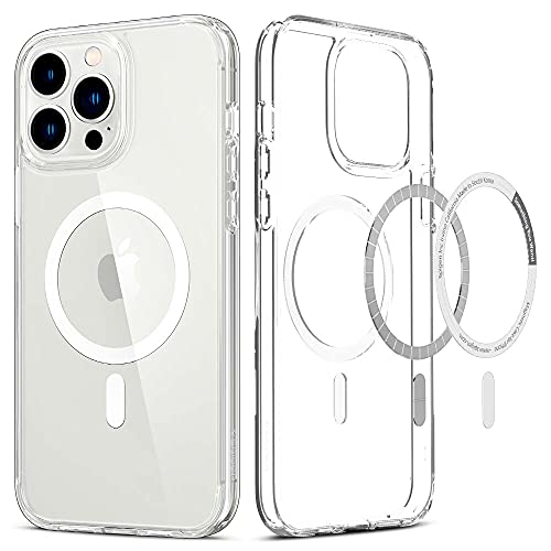 Spigen Funda Magnética Ultra Hybrid mag Compatible con MagSafe y Compatible con iPhone 13 Pro MAX - Blanco