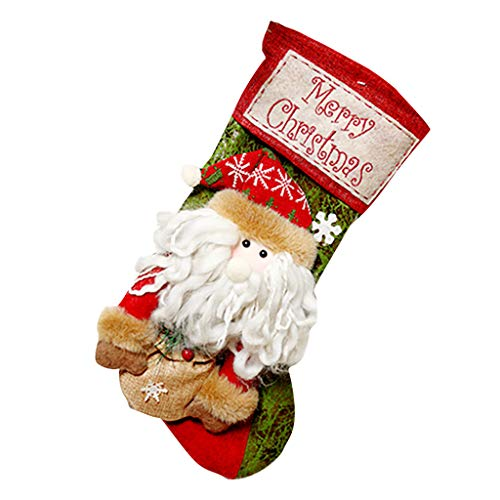 Fineday Merry Christmas Plush Tree Hanging Gift Candy Small Socks Decoration, Home Decor for Christmas Day (A)