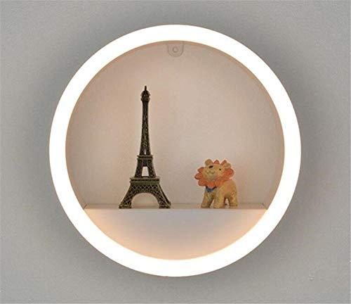 YLCJ wandlamp eenvoudige wandplank smeedijzeren wandlamp slaapkamer woonkamer TV Studio LED wandlamp, A
