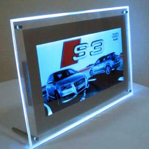 LED Plakatrahmen A4 | LED beleuchtet, Leuchtrahmen Acrylrahmen, entspiegelte Schutzscheibe | Posterrahmen | weitere Rahmen von A4 – Bis A0 und Panorama finden Sie unter led-leuchtdisplay.com