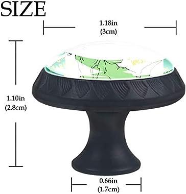 "4 Pack Round Cabinet Hardware Knob Roar Hat Dinosaur - 1-37/100"" Diameter - knobs for Dresser Drawers"