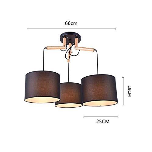 Hanglamp schaduw industrie hanglamp kroonluchter hout eettafel zwart woonkamer restaurant slaapkamer verlichting