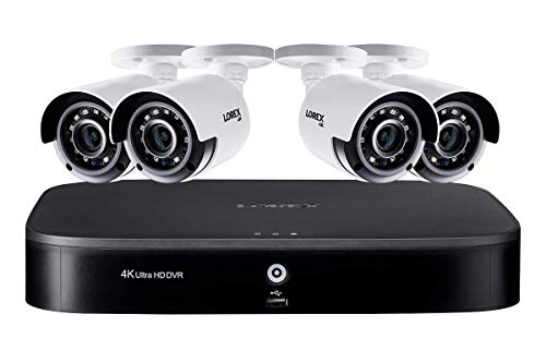 Lorex 4K Ultra HD 8-Channel Security System with 4K (8MP) Cameras, Advanced Motion Detection and Smart Home Voice Control