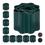 Relaxdays 10x RecinzionI Flessibili, Bordure per Aiuole in Plastica, Bordature per Prato o Aiuole, HxP: 10 x 900 cm ca, Grigio