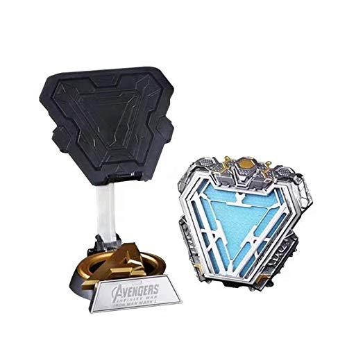 Marvel Avengers Superheld 1: 1 Tragbares Iron Man MK50 Kostümzubehör Lichtbogenreaktor Brust Modell LED Flash Kit Movie Prop Modell MK50