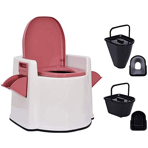 XYZA TRAGBARE Toilette - Mobiler Toilettensitzhocker Squat Pit Wechseln - Nachttoilette, Rosa